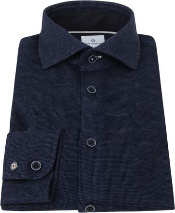 Blue Industry Overhemd Pique Donkerblauw