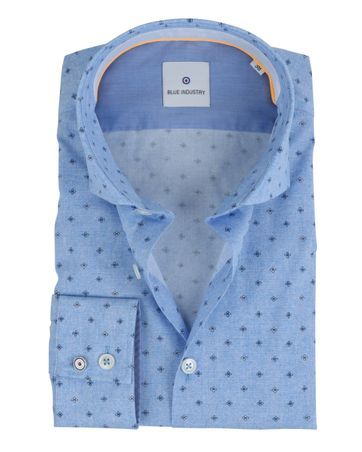 Blue Industry Overhemd Print Blauw