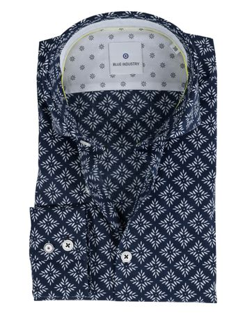 Blue Industry Overhemd Print Navy