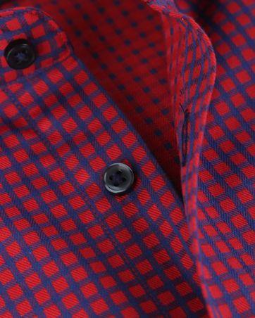 Detail Blue Industry Overhemd Rood Blauw Ruit