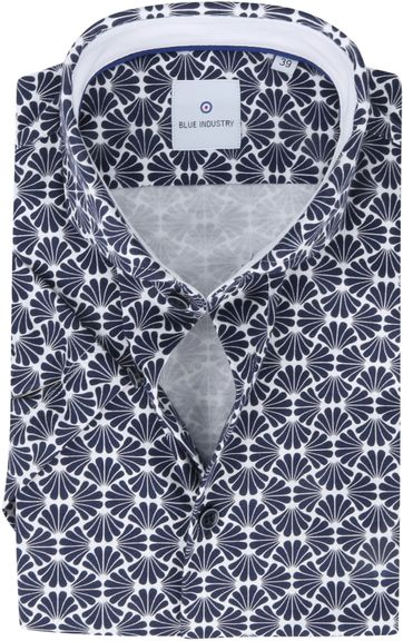 Blue Industry Overhemd Short Sleeve Navy