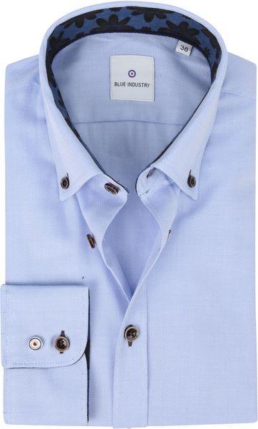 Blue Industry Overhemd Strepen Blauw