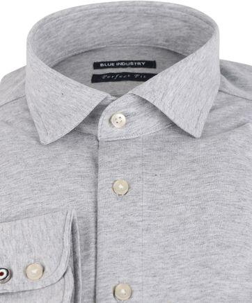 Detail Blue Industry Overhemd Stretch Grijs