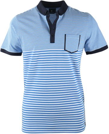 Blue Industry Polo Blau Streifen