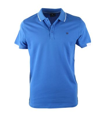 Blue Industry Polo Blauw + Wit