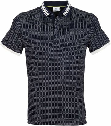 Blue Industry Polo Blokken Navy