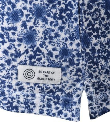 Detail Blue Industry Polo Blue Splash
