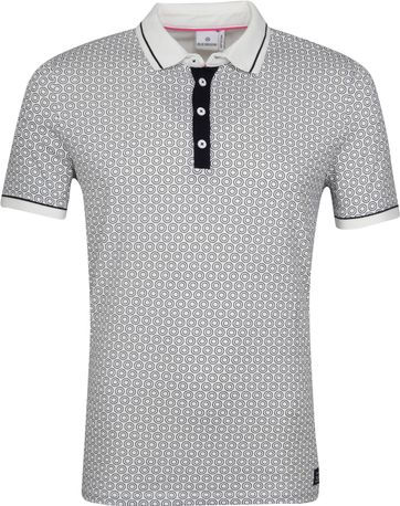 Blue Industry Polo Cirkel White