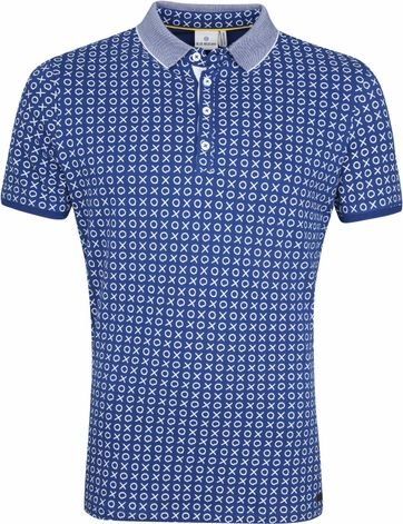 Blue Industry Polo Cross Check Blauw