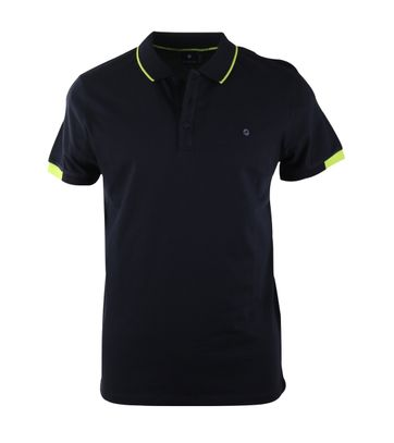 Blue Industry Polo Donkerblauw + Neon