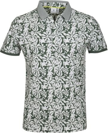 Blue Industry Polo Green Flower