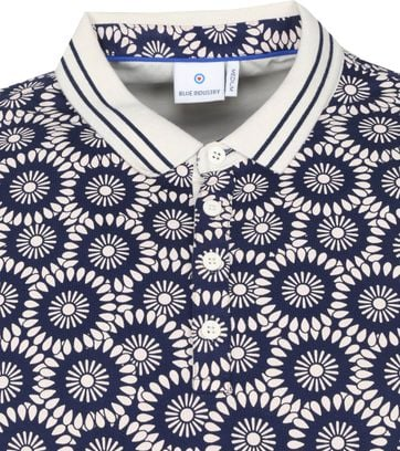 Blue Industry Polo M34 Vintage Dessin Donkerblauw