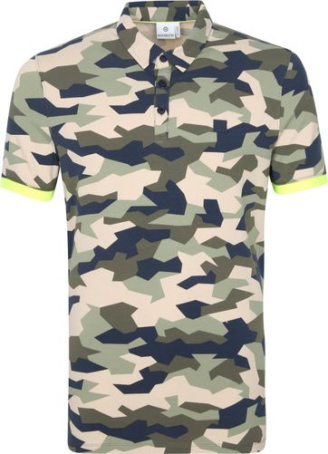 Blue Industry Polo Shirt Army Multicolour