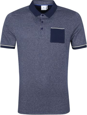 Blue Industry Polo Shirt M25 Melange Navy