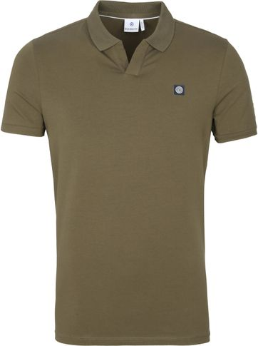 Blue Industry Polo Shirt Stretch Green