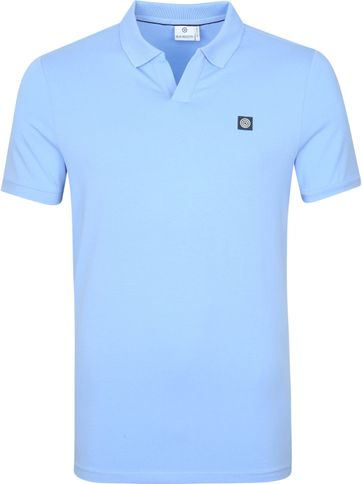 Blue Industry Polo Shirt Stretch Hellblau