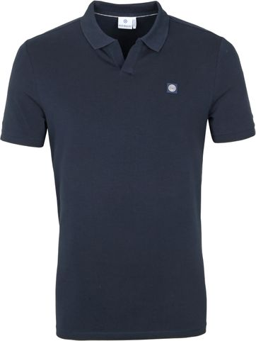 Blue Industry Polo Shirt Stretch Navy