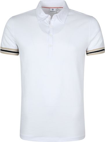 Blue Industry Polo Shirt White