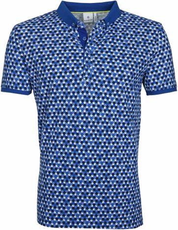 Blue Industry Polo Stippen