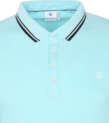 Blue Industry Polo Stretch M24 Aquablauw