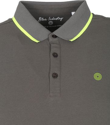 Blue Industry Polo Stretch M47 Donkergroen