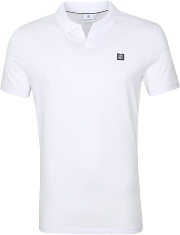 Blue Industry Polo Stretch White