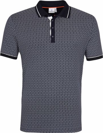 Blue Industry Poloshirt Circle Navy