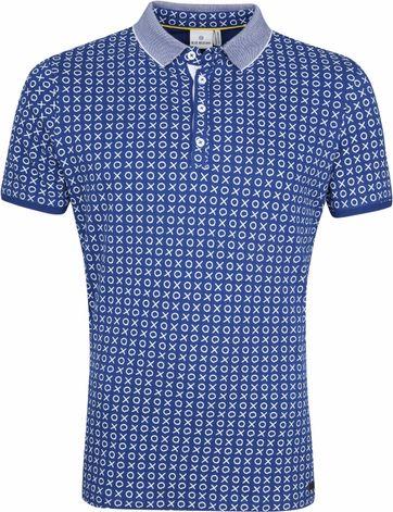 Blue Industry Poloshirt Cross Check Blau