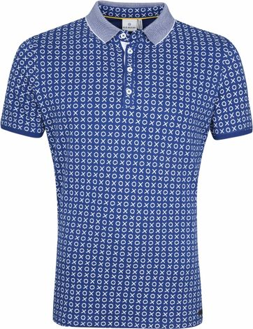 Blue Industry Poloshirt Cross Check Blue