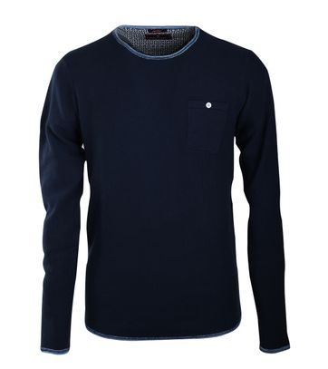 Blue Industry Pullover Donkerblauw
