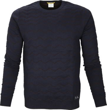 Blue Industry Pullover Navy Lines