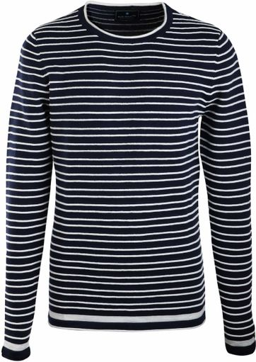 Blue Industry Pullover Navy Stripes