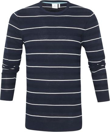 Blue Industry Pullover Stripe Navy