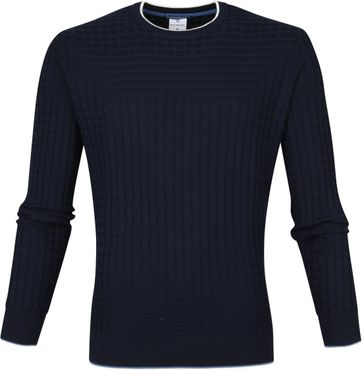 Blue Industry Pullover Waffle Navy