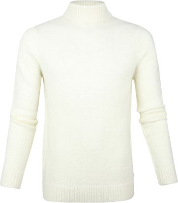 Blue Industry Rollkragenpullover Off-White