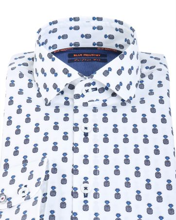 Detail Blue Industry Shirt Ananas
