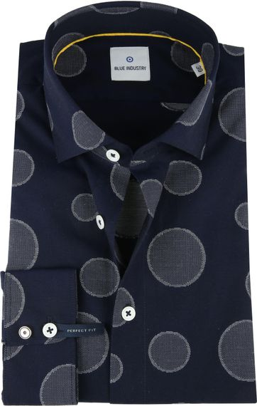 Blue Industry Shirt Big Dots