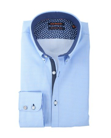 Blue Industry Shirt Blauw Button Down