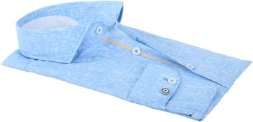 Detail Blue Industry Shirt Blauwe Ruitjes