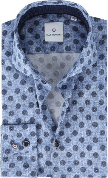 Blue Industry Shirt Blue Flowers