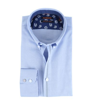 Blue Industry Shirt Button Down Blauw