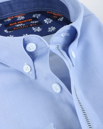 Detail Blue Industry Shirt Button Down Blauw