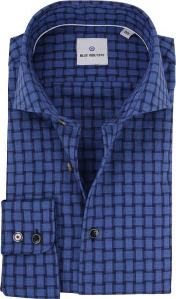 Blue Industry Shirt Checks Blue