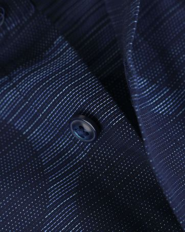 Detail Blue Industry Shirt Donkerblauwe Cirkels