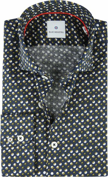 Blue Industry Shirt Dots Green