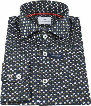 Blue Industry Shirt Dots Green