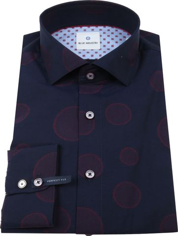 Blue Industry Shirt Dots Navy
