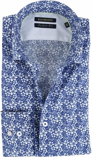 Blue Industry Shirt Floral Blue