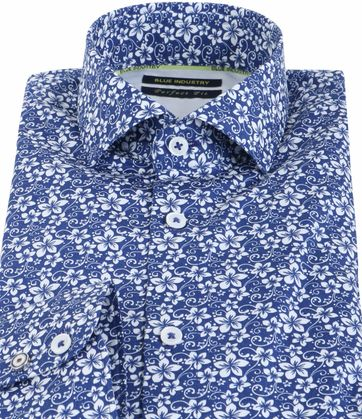 Detail Blue Industry Shirt Floral Blue