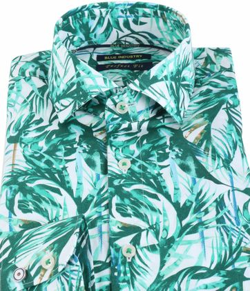Blue Industry Shirt Floral Green